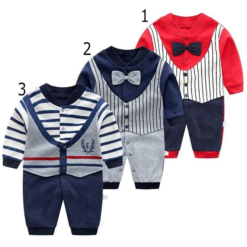 cdc413b5d7948 Baby Romper Boy Fahion Gentleman New Born Baby Boy Jumpsuit Long Sleeve  Baby Clothes Hot Sale Baby Onesies