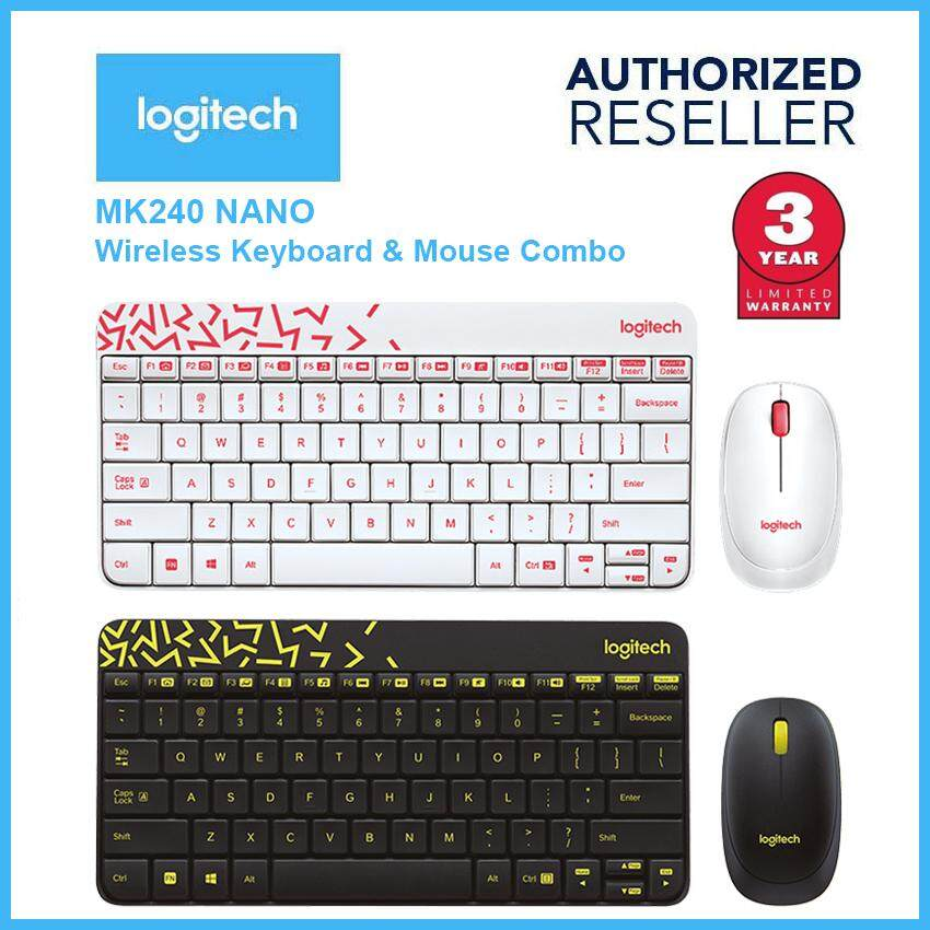 Original Logitech Wireless Combo MK240 Nano Keyboard & Mouse Set Malaysia