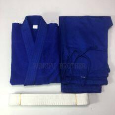 Đồng Phục Judo Kimono Judo Gi, Dành Cho Trẻ Em, Xanh Dương Và Trắng Kích Thước 100 Cm — 130 Cm