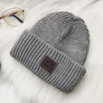 CANDY แฟชั่นสำหรับทั้งหญิงและชายยิ้มเสื้อกันหนาวหมวกขนสัตว์