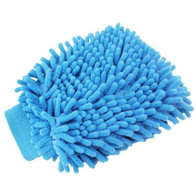 1pc Microfiber Car Motorcycle Wash Glove Cleaning Car Care Detailling Products Super Mitt Microfiber Washing Tool.