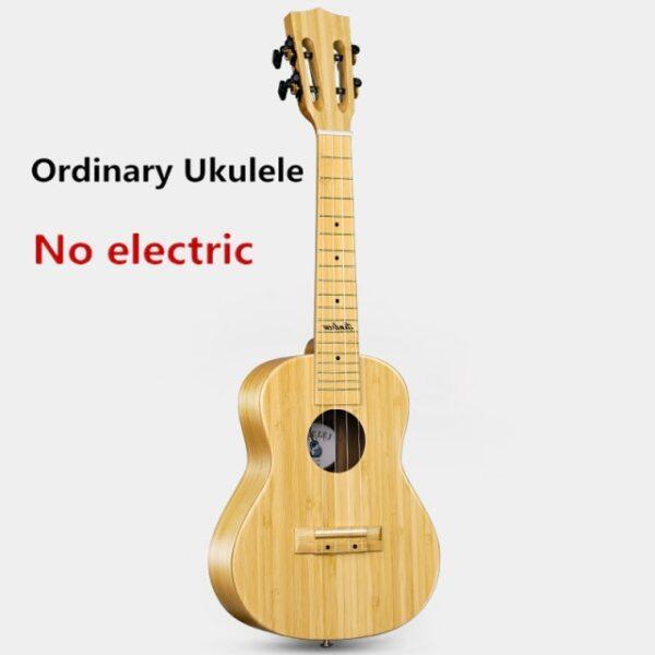 Ukulele Top Solid Full Bamboo 23 Inch Concert Matt Electric Mini Acoustic Guitar 4 Strings Ukelele Guitarra Musical instrument Malaysia