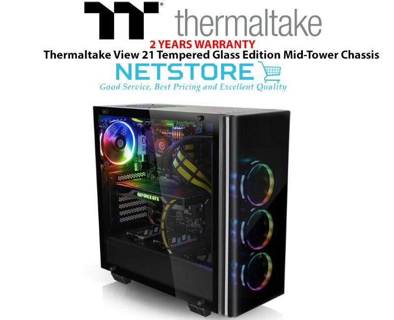 Thermaltake View 21 Tempered Glass Edition Mid-Tower Chassis - CA-1I3-00M1WN-00 Malaysia