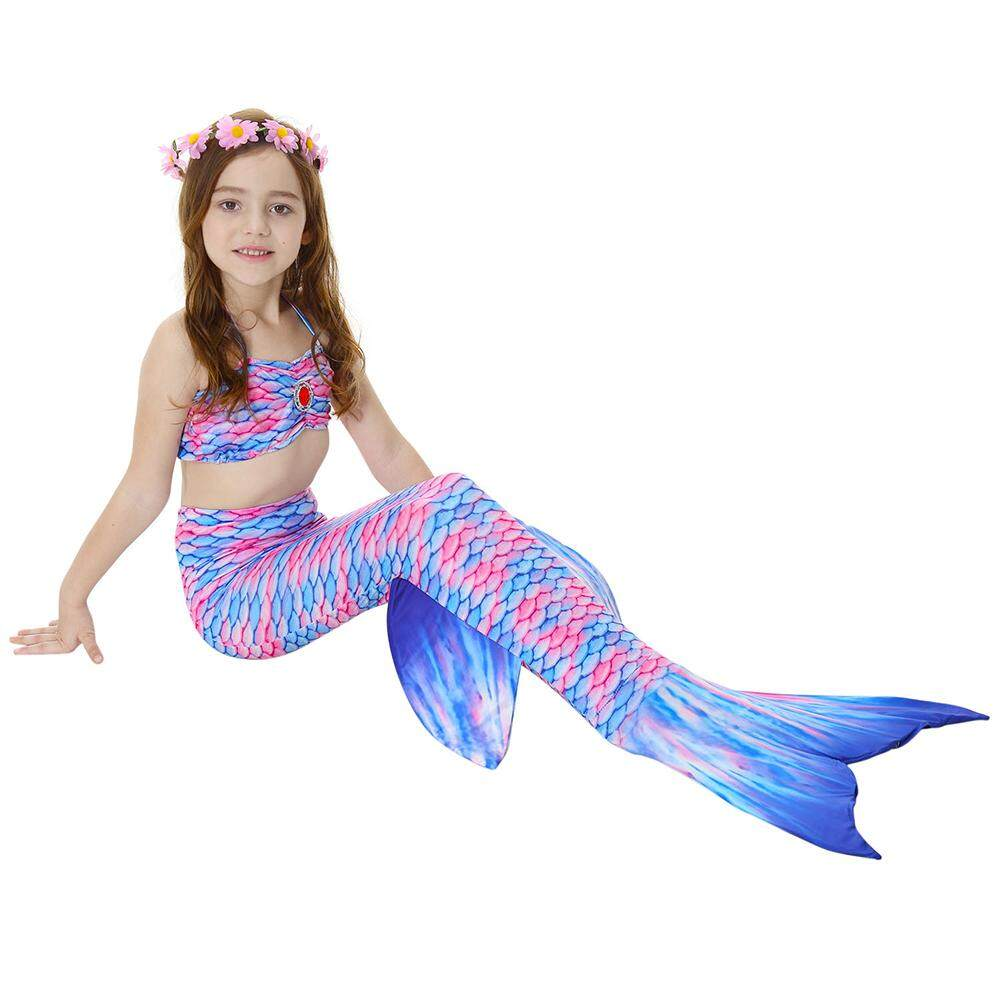 Yaababy Girls Fish Tail Costume Set For Split Swimsuit Swimwear Princess Bikini Set By Yaababy.