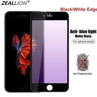 Zeallion [Giao Hàng Nhanh] Màng Bảo Vệ Cho [Apple iPhone 6 6S 7 8 Plus X XS XR 11 12 Mini Pro Max SE 2020] Miếng Dán Bảo Vệ Toàn Màn Hình Chống Ánh Sáng Xanh Kính Cường Lực Màu Tím + AG Mờ 9H thumbnail