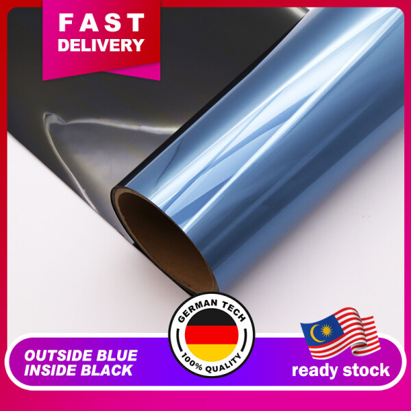【 Free* TOOLS】Outside Blue Inside Black (3Ply)/ Tinted Film For House Window / Tinted Rumah / Tinted Office (Tahan Panas)
