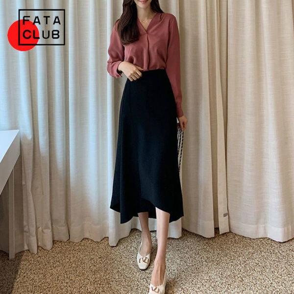 Nơi bán Váy Chữ A Không Đều Mùa Hè FATA Váy Dài, Chân Váy Hàn Quốc Đa Năng Ôm Eo Cao Độ Dài Trung Bình Mới 2021