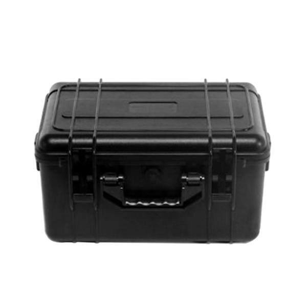 Miracle Shining Black ABS Waterproof Multipurpose Toolbox Industrial Organizer Storage Box