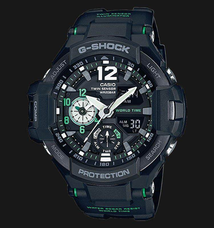 SPECIAL PROMOTION CASIO G-SHOCK_GA_1100 TWIN SENSOR MUDMASTER SERIES SPORT WATCH SPECIAL PROMOTION(ALONG WITH FREE GIFT) Malaysia