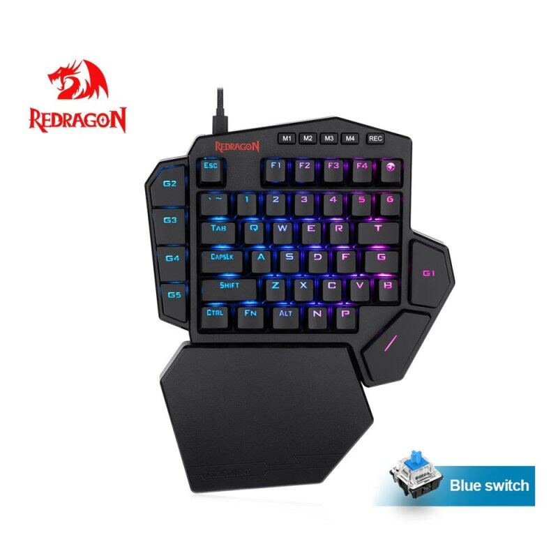 Redragon DITI K585 RGB 42 Key One-handed Mechanical Gaming Keyboard Blue Switch 7 programmable macro For Game Laptop PC phone Singapore