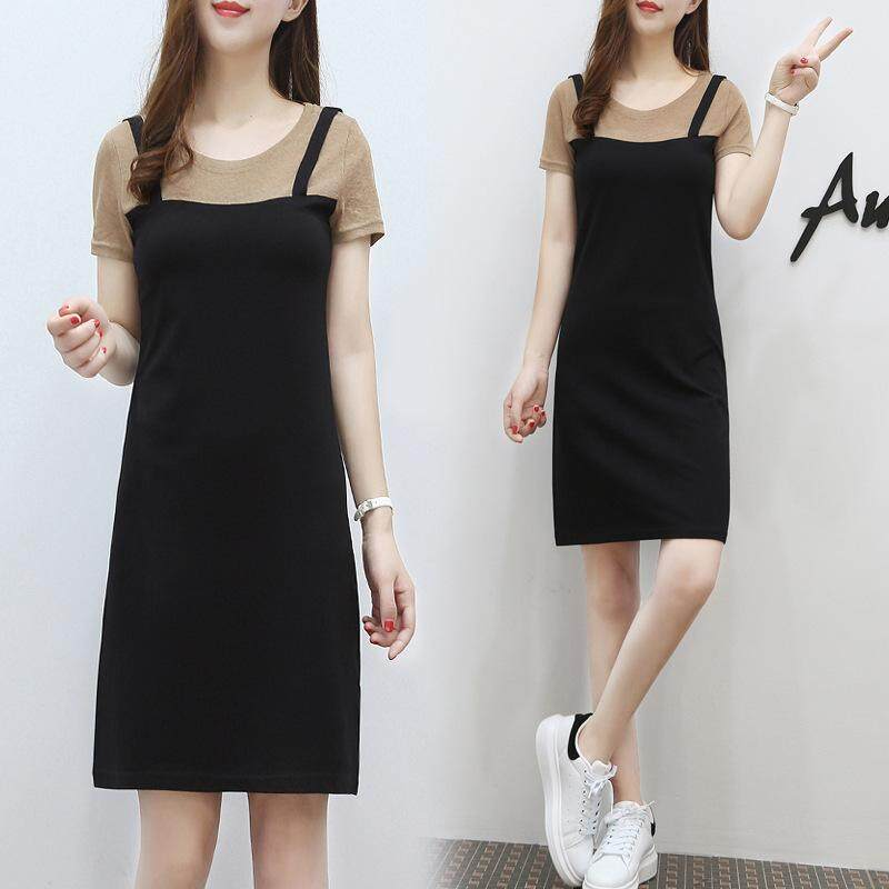 1b1343f5916e1 New strap dress two-piece dress female summer dress Korean version of the  long section was thin temperament fashion suit skirt