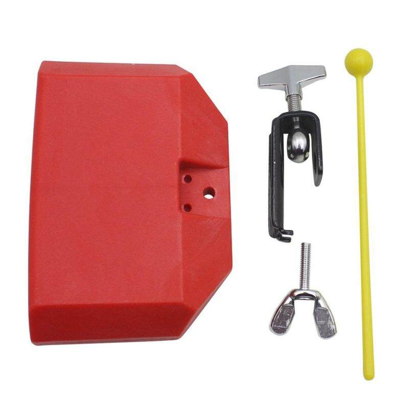 Best Sellers Percussion Drum Bell Block Cowbell Mountable Mallet Instrument Accessory Red