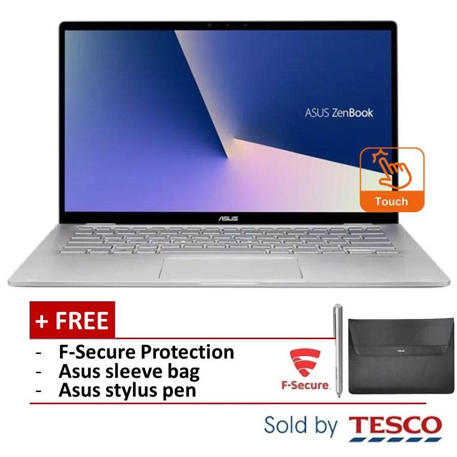 Asus Zenbook Flip 14 UM462D-AAI047T Laptop (R5-3500U/ 8GB/ 256GB) + FSecure (Light Grey) Malaysia