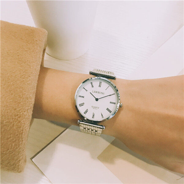 ♤  Watch fashiOn leisure female male ins cOntracted retrO metal strip chic Original SuFeng lOvers with a pair Of Malaysia