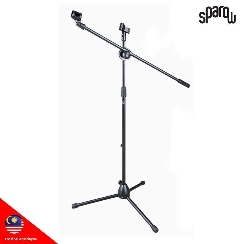 Stage Stand Sparow for Microphone Boom Floor-type Microphone Mic Stand W/ Two Clips