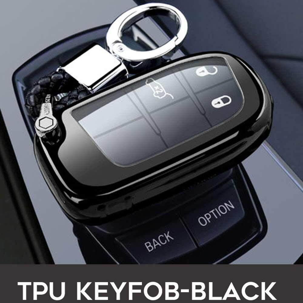 Car Remote Key Case Cover For Fiat Dodge Ram 1500 Charger Challenger Durango Jeep Chrysler 300C Grand Cherokee Compass (Black)