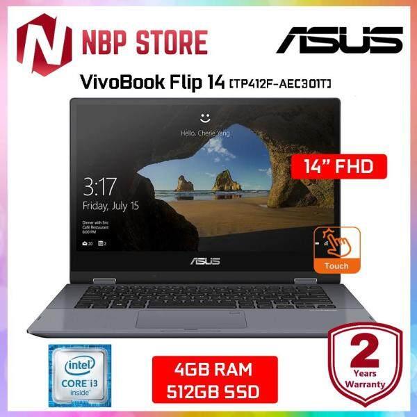 ASUS VivoBook Flip 14 TP412F-AEC301T 14 FHD Touch Laptop Grey ( i3-8145U, 4GB, 512GB, Intel, W10 ) Malaysia