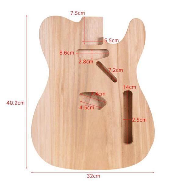 Âm Thanh Kỳ Diệu DIY Chưa Hoàn Thành Guitar Cơ Thể Trống Gỗ Cây Phong Phù Hợp Với TL Phụ Kiện Đàn Guitar