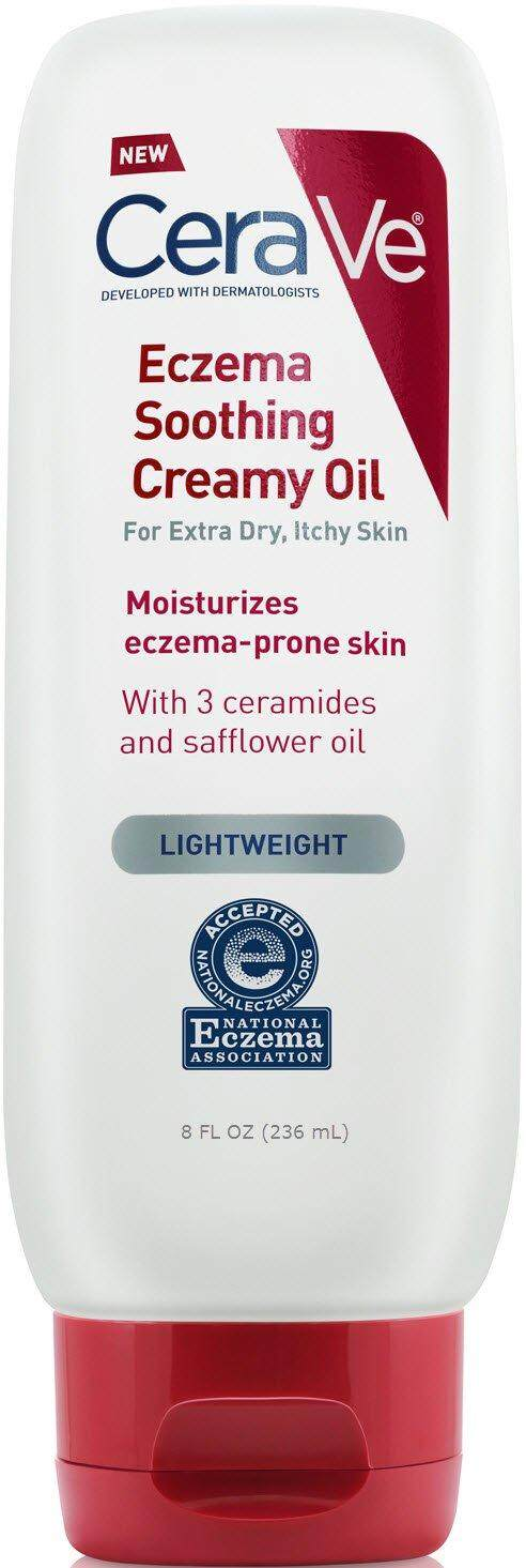 [ Iimono ] Cerave Eczema Soothing Creamy Oil With Safflower Oil And Ceramides For Moisturizing Eczema-Prone Skin, 8 Fl Oz By Iimono Living.