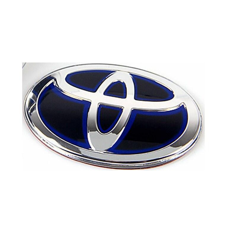 67X45 Mm Lái Ô Tô Hiệu Logo Cho Xe Toyota Lai PMMA Huy Hiệu Đen Với Màu Xanh Ký Miếng Dán Mark dán