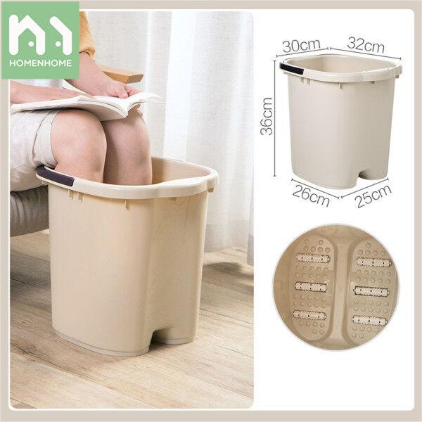 Buy Homenhome Foot Bath Bucket Heighten Plastic Footbath Basin Foot Bath And Health Singapore