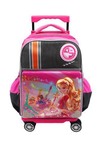 Swan Girl Cartoon Twist n Roll Cartoon 8 Wheels Primary Trolley school bag 885626d609d1e