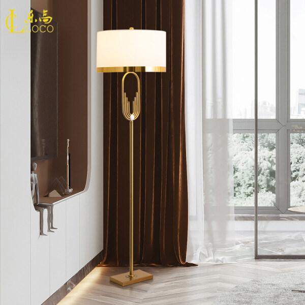 LOCO LIGHT Nordic Floor Lamp High-end Living Room Hardware Standard Lamp Bedroom Bedside Table Lamps LED Energy-saving Decorative Lighting Fixtures