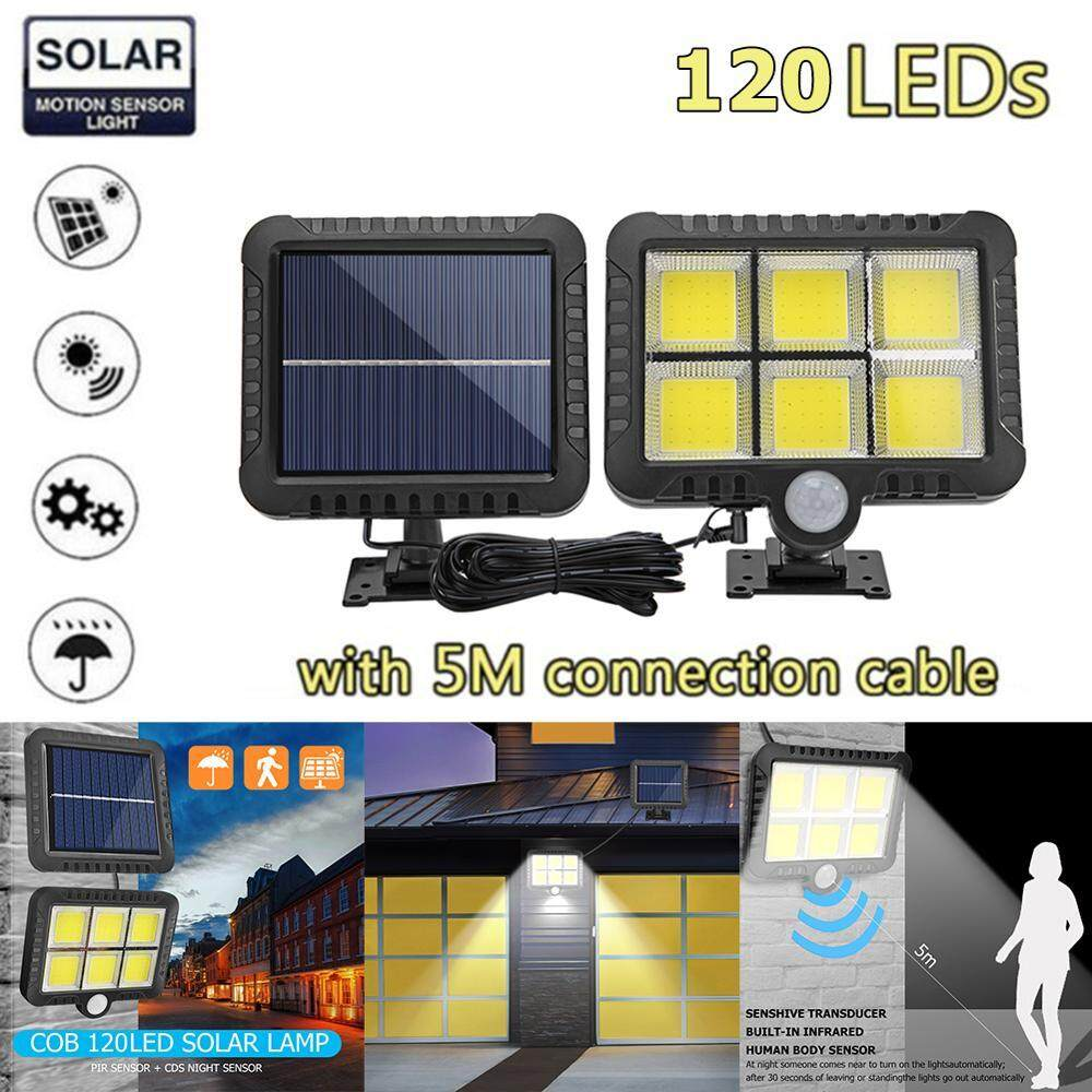 Solar Motion Sensor PIR Light 56 / 100 / 120 LED / COB Waterproof Outdoor Garden Path Street Wall Lamp Lampu