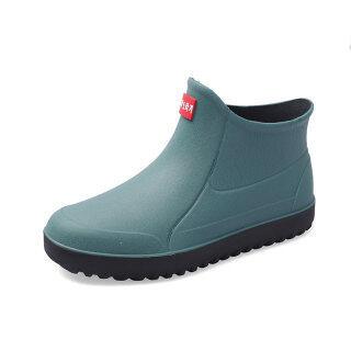 JOY Giày đi mưa cao su đế thấp cho nam ngoài trời, chống thấm nước, chống trượt đi câu cá hoặc rửa xe thumbnail