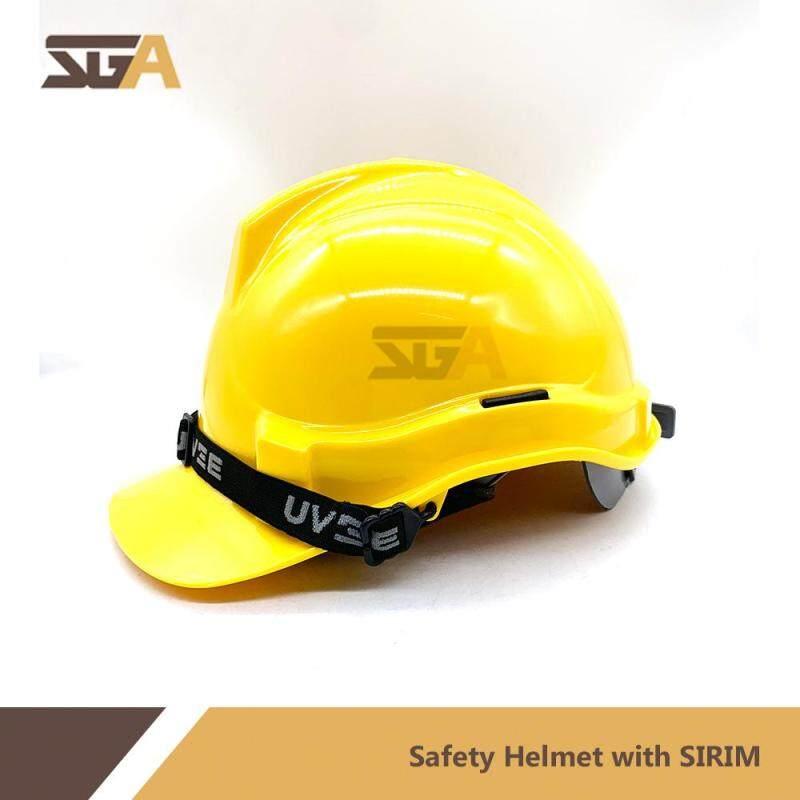 UVEE Professional Industrial Safety Helmet ( YELLOW ) Slide Lock Adjustable ( SIRIM CERTIFIED ) Topi Keselamatan KUNING