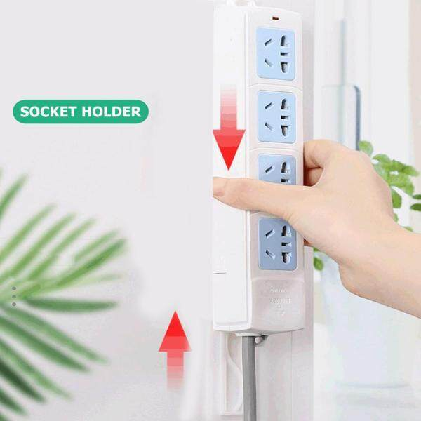 [Bside Tool Store] 10x3.8cm Punch-free Socket Wall Fixer Self-adhesive Remote Control Router Seamless Power