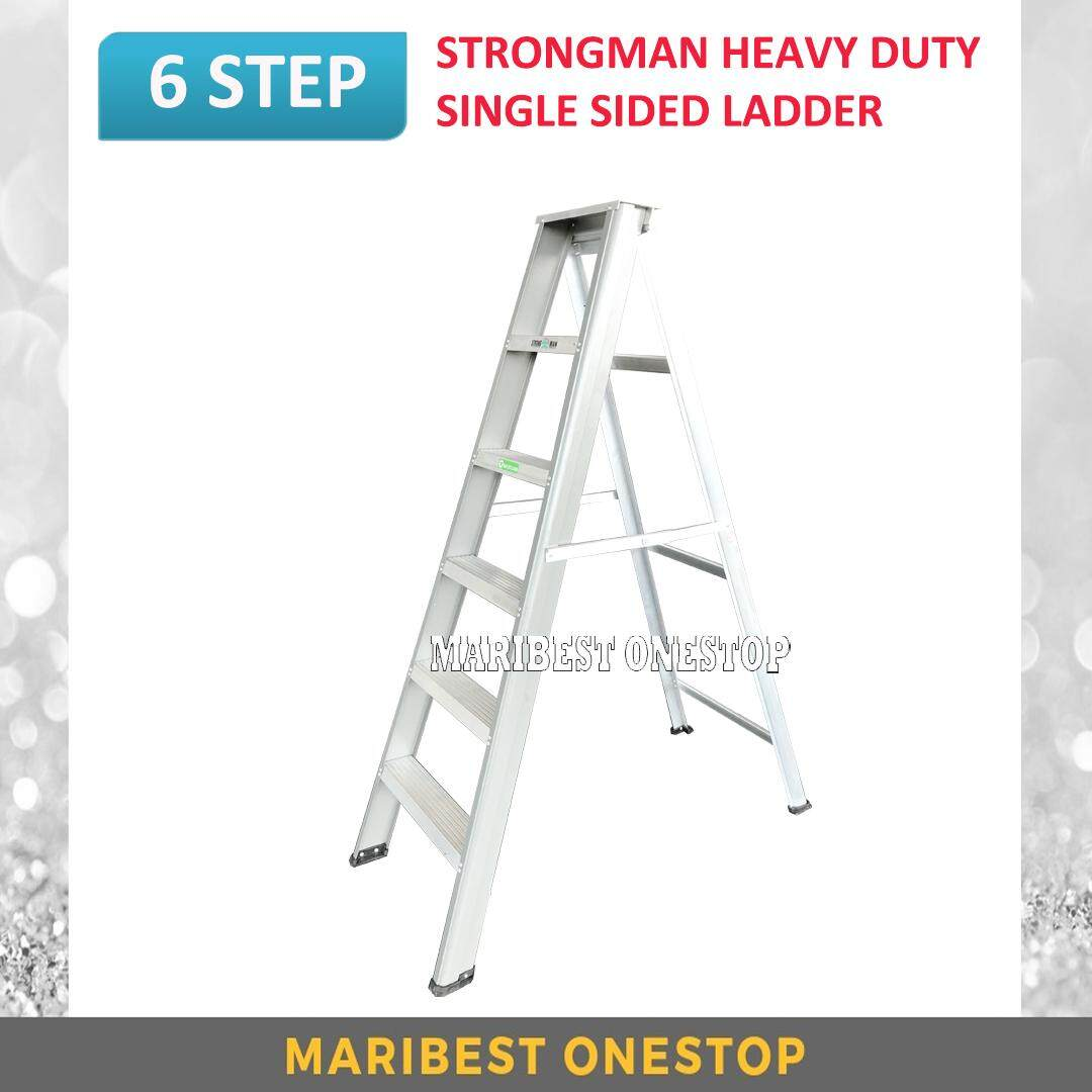 STRONGMAN SH6 Heavy Duty Aluminium Single Sided 6 Steps Ladder