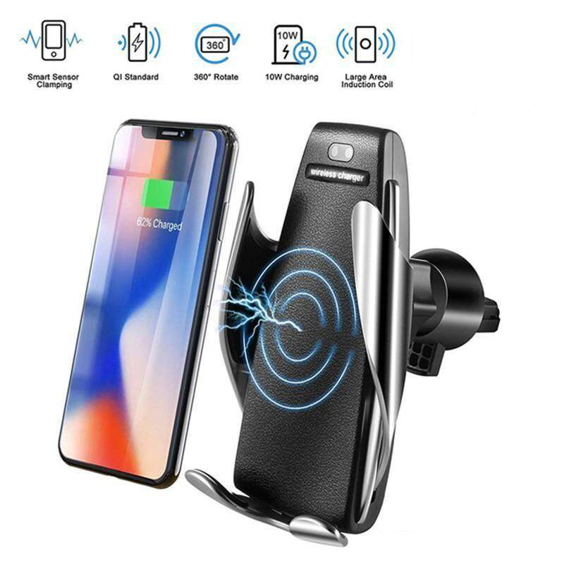 S5 Smart Sensing Fast Qi Wireless Charger Intelligent Infrared Sensor Car Holder Charging For Iphone 8 X Xs Max Xr Samsung Galaxy S8 S9 Car Mount Stand By Joey Audio Store.