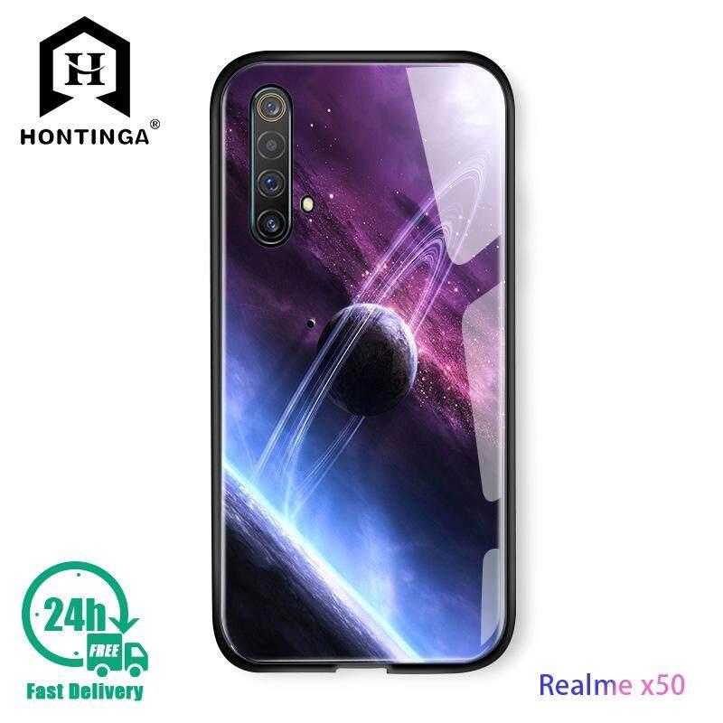 Hontinga For Realme X3 Superzoom Case Fantasy Space Luxury Aurora