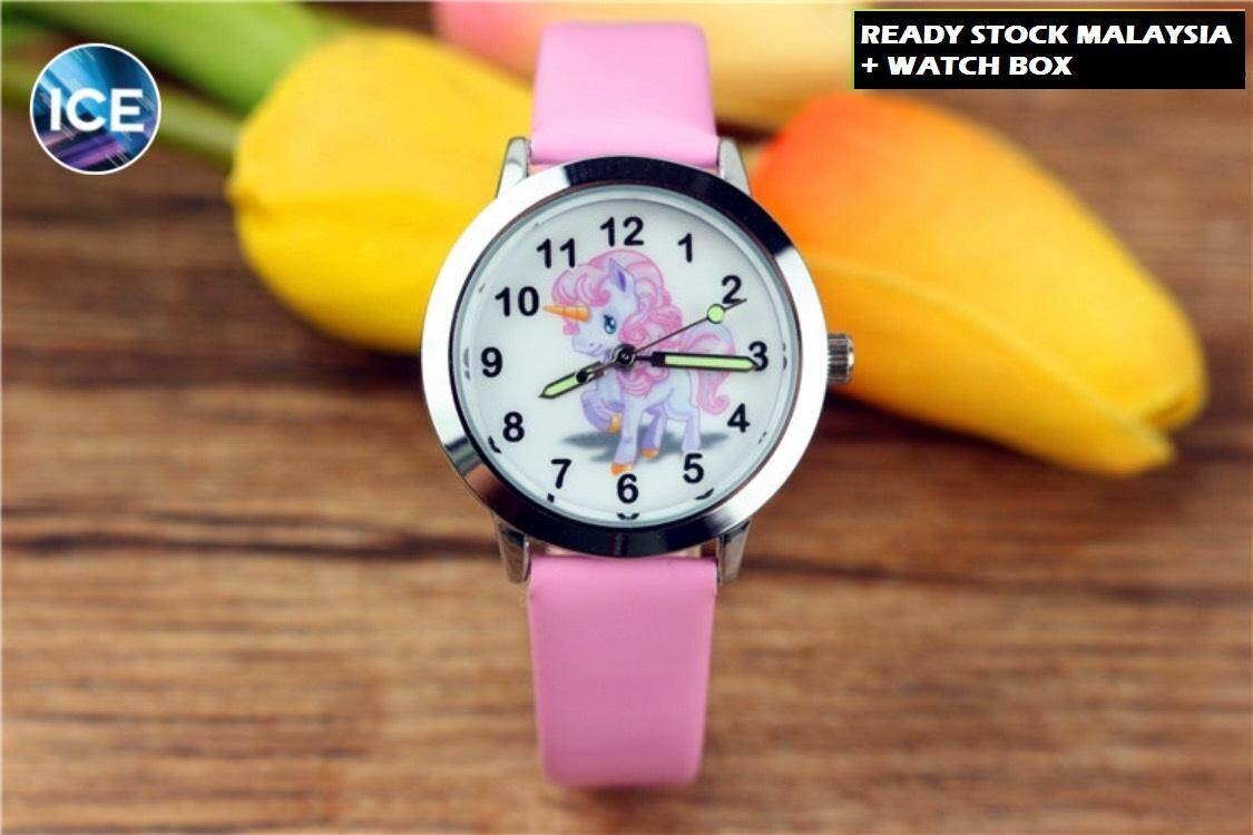 ICE Kids/Childrens Sport and Casual Unicorn Analog Luminous Pointer Watches + Watch Box Best Gift Jam Tangan Malaysia