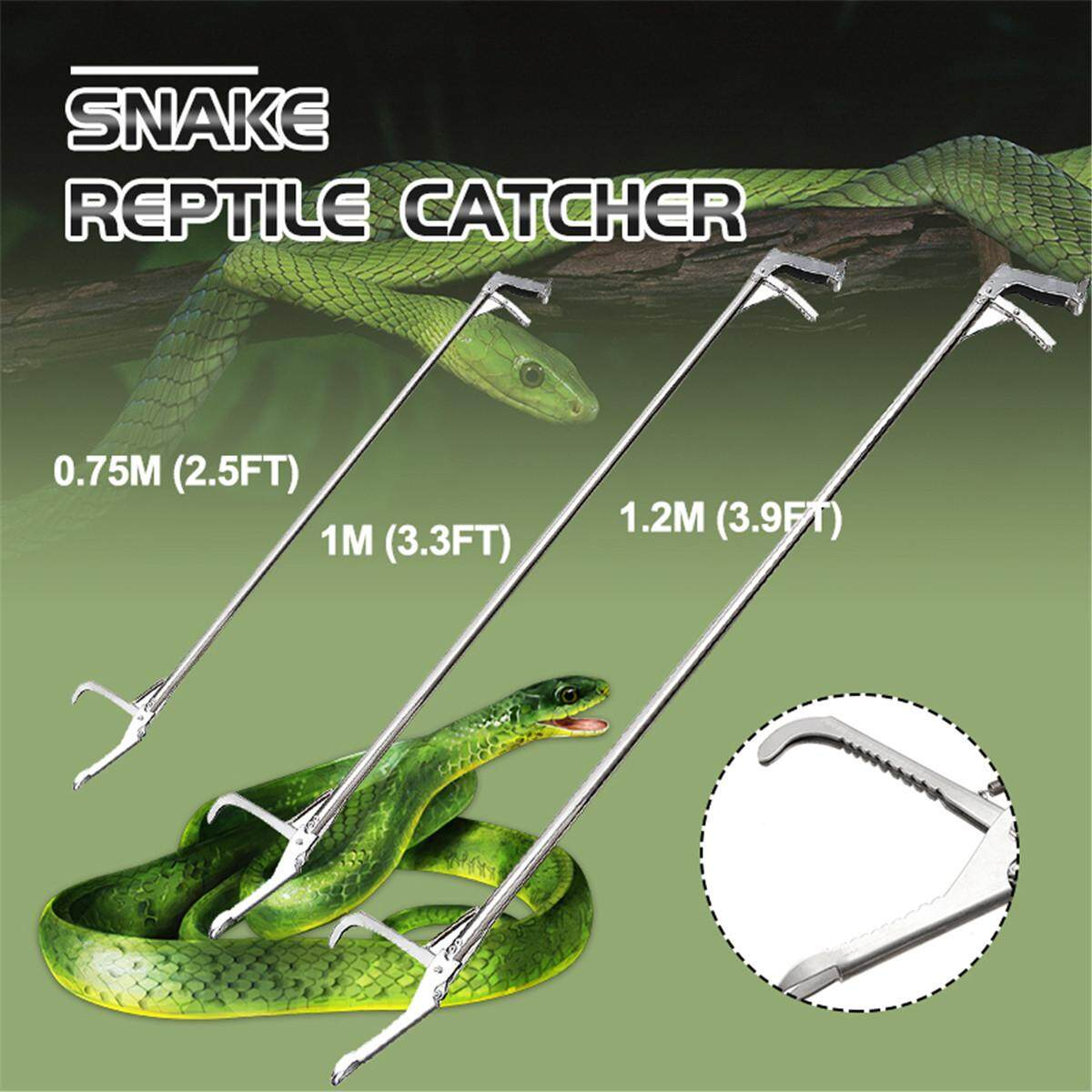 1.0m Snake Clamp 70CM Handle Tong Catcher Stick Reptile Stick Snake Handling Tools