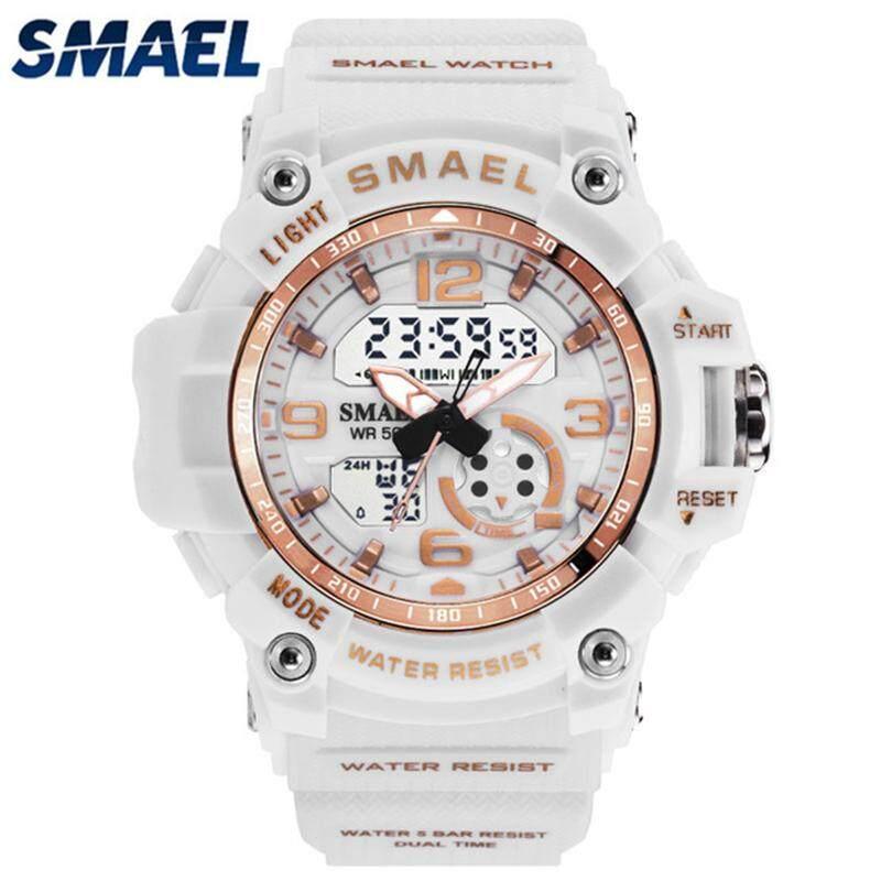 SMAEL thương hiệu hàng đầu Sang Trọng Thời Trang Unisex Đồng Hồ Thể Thao Nam Đồng Hồ Nữ Thạch Anh Kỹ Thuật Số LED đồng hồ điện tử Thông Thường đồng hồ quân sự chống thấm bán chạy