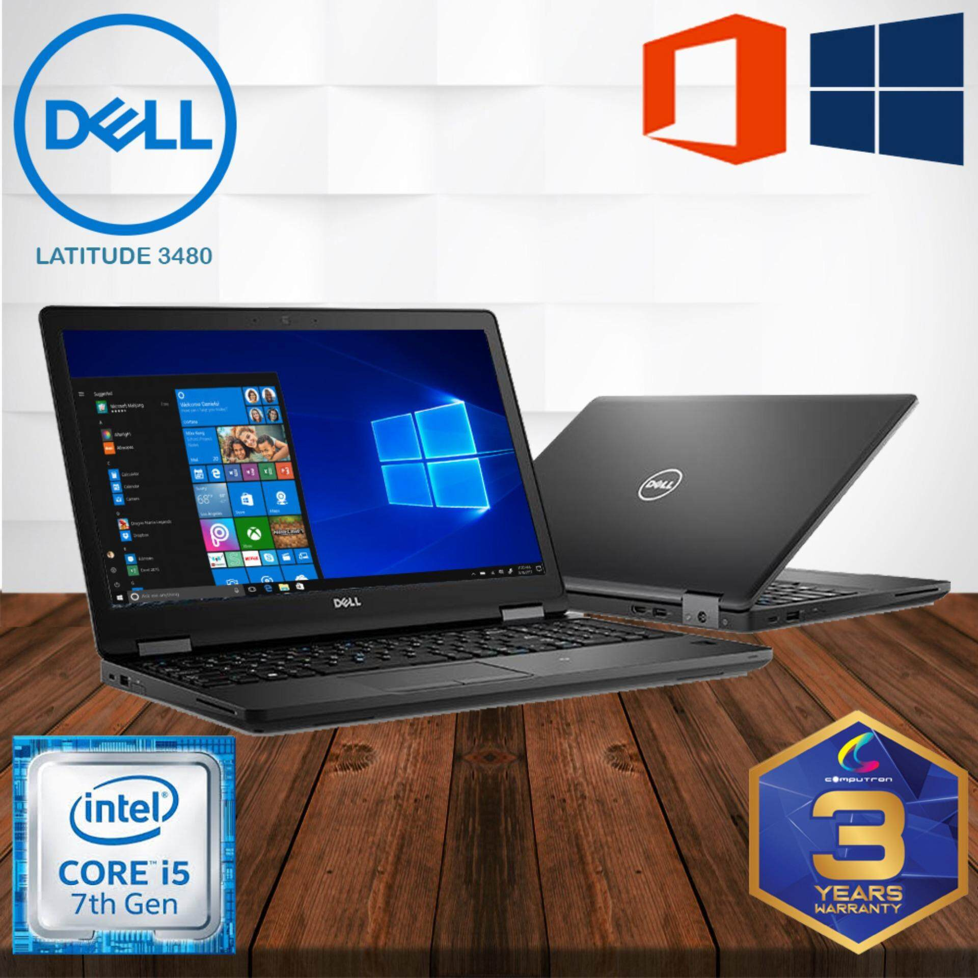 DELL LATITUDE 3480 SLIM [ CORE I5 7TH GENERATION/ 8GB DDR4/ 500GB HDD/ LAPTOP ] 3 YEAR WARRANTY Malaysia