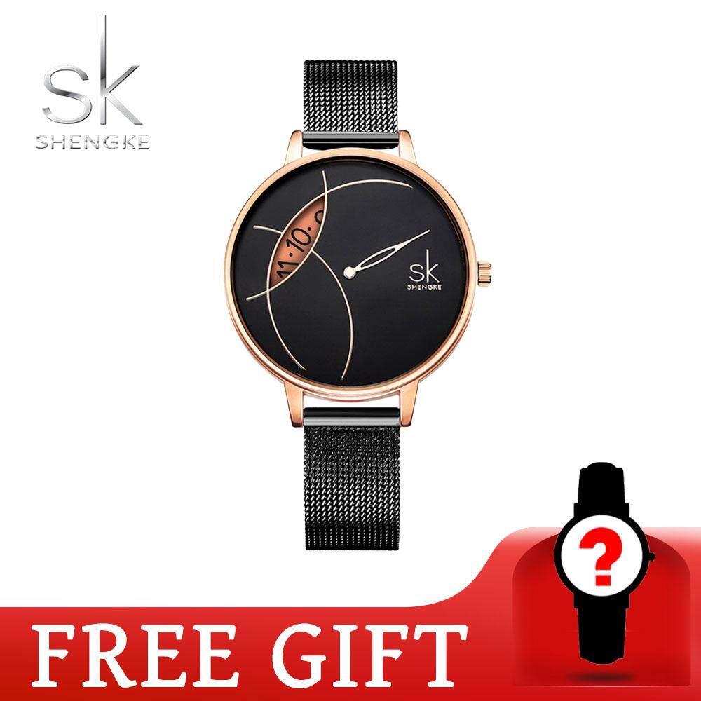 ShengKe Business Watch for Women Casual Fashion Quartz Wrist Watches Waterproof  Jam Tangan Wanita Calendar Stainless Steel Strap Malaysia