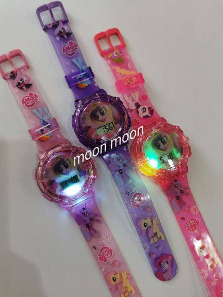 Kids Watches Cartoon with Music Light / Jam Tangan Budak Lampu dan Muzik Pony Malaysia