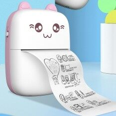 Pencetak Mini Hd Pencetak Haba Mudah Alih Bluetooth Tanpa Wayar Túi Pencetak Foto Kartun Comel Gambar Nhãn Percetakan Nota-Nota Kesilapan Kerja Rumah Memo Pencetak dengan Kertas Percetakan