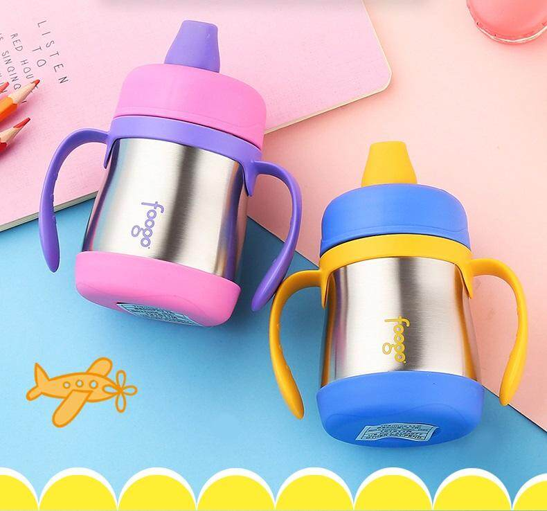 FREE SHIPPING - Limited Time Promotion - Thermos Foogo 0 21L Hygienic Soft  Spout Sippy Cup with Handle Kids Drinking Bottle - Blue, Pink