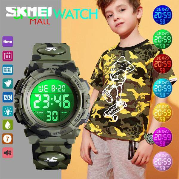🚀Free Shipping🚀 SKMEI Teen Student Colorful LED Flash Light Boys Fashion Watch Digital Sport Stopwatch Alarm 50m Waterproof 1548 Malaysia