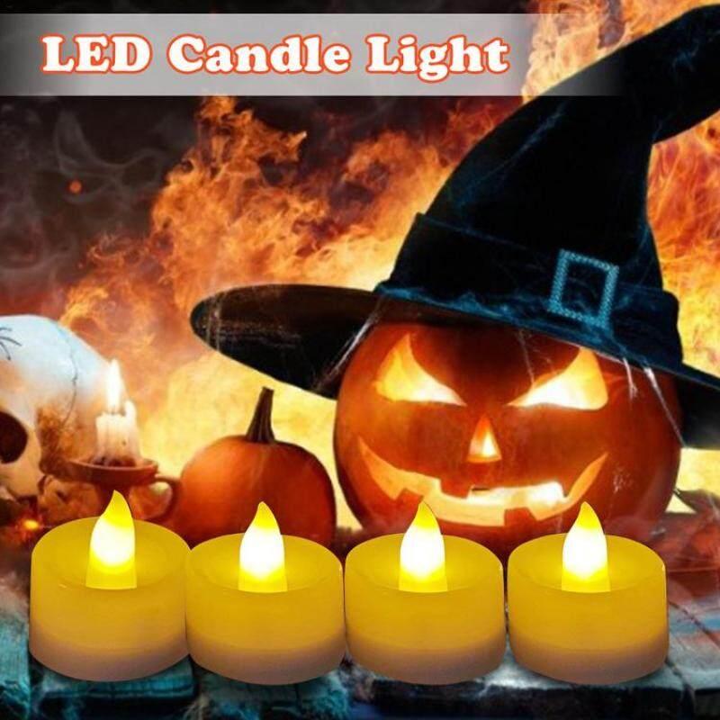 Đèn LED Nến Không Lửa Đèn Trang Trí Tealight Chạy Bằng Pin Cho Giáng Sinh Halloween