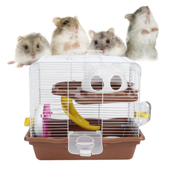 Bánh Xe Chạy Êm Ái Sang Trọng Hai Lớp 35X26.5X32Cm, Hamster Lồng Pet Nguồn Cung Cấp