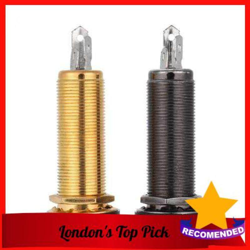 [ London ] 6.35mm 1/4 Inch End Pin Endpin Jack Socket Plug Mono Output Copper Material for Acoustic Electric Guitar (Gold) Malaysia