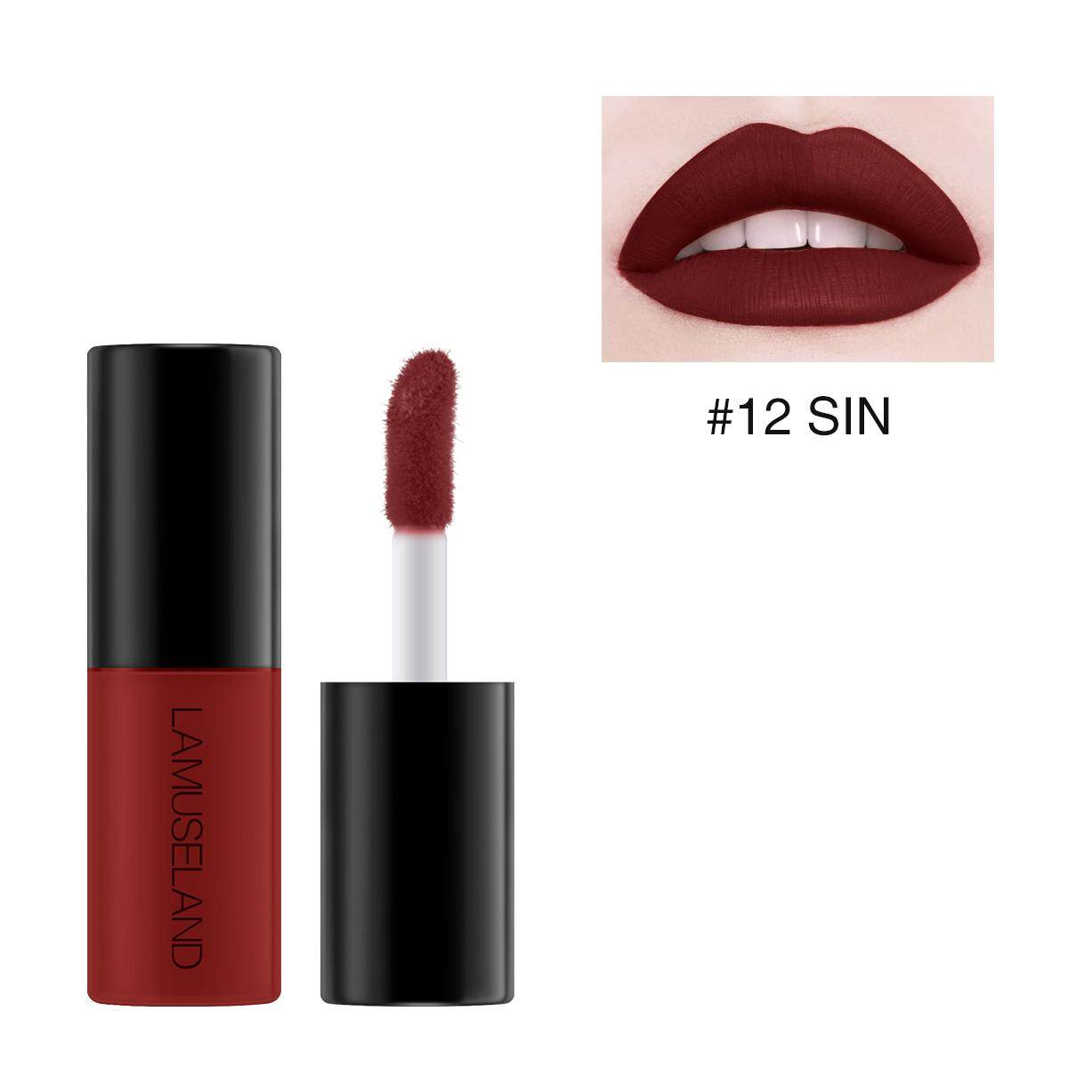 Lamuseland 12 Colors Waterproof Long-Lasting Mini Lipstick Matte Lip Gloss By Barbiecosmetic.