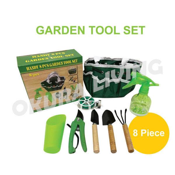 OKURA 8 in 1 Mini Garden Tools Indoor / Outdoor Farmland Digging Lawn Multi-function Handy Gardening Hand Tools