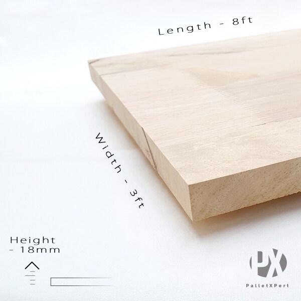 Rubber Wood Board 18mm x 3ft x 8ft (Grade BC) | Kayu Papan | Kayu Getah | Papan DIY | Papan Getah |