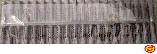 WIRAPLUS PVC WALL PLUG GREY 8MM (PACK)
